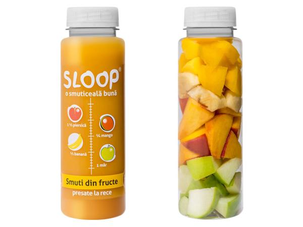 Smoothie fructe - piersică mango banană măr