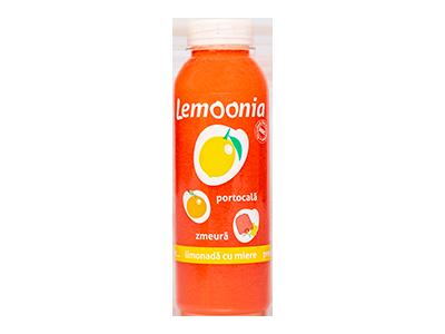 Lemoonia - limonadă cu portocală și zmeură