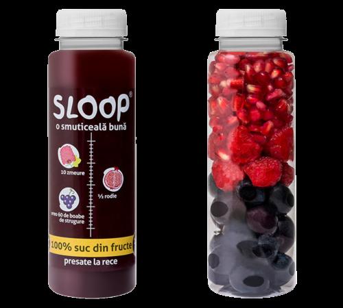 SLooP Suc fructe - zmeură rodie strugure