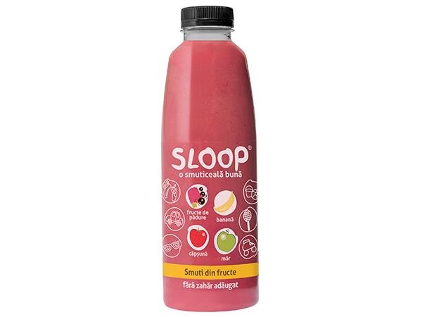 Smoothie Suc fără zahăr fructe și legume - fructe pădure banană măr căpsună