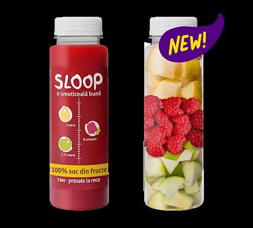 Suc din fructe - pere, zmeura, mere
